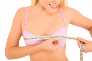 measuring breast size